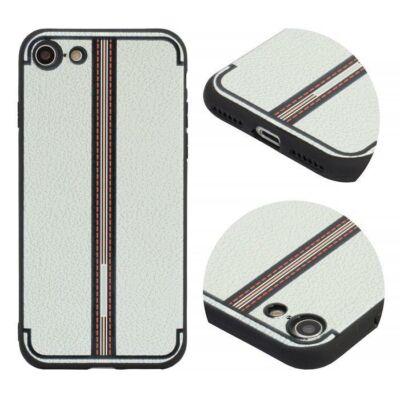 Tok, Grid, szilikon hátlap, Apple Iphone 7 / 8 / SE (2020), minta 3, fehér
