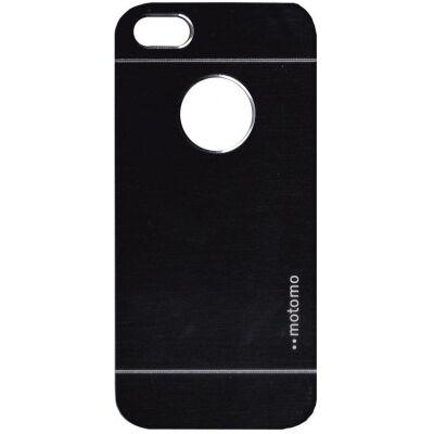 Tok, Motomo, szálcsiszolt aluminium hátlap, Apple iPhone 6 / 6S, fekete