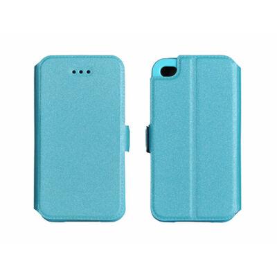 Tok, oldalra nyíló flip tok, Apple iPhone 7 / 8 / SE (2020), kék, flexi, csomagolás nélküli