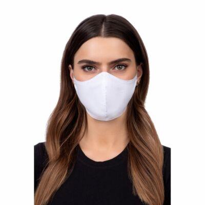 Szájmaszk, Többször használható, oldalzsebes, mosható, vasalható, fertőtleníthető maszk, fehér
