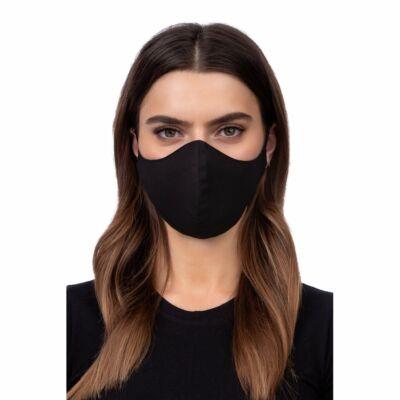 Szájmaszk, Többször használható, oldalzsebes, mosható, vasalható, fertőtleníthető maszk, fekete