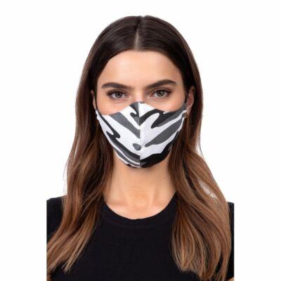 Szájmaszk, Többször használható, oldalzsebes, mintás, mosható, vasalható, fertőtleníthető maszk, fehér, minta 4 (Terepminta)